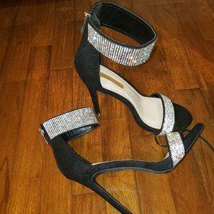 Shoes - Black bedazzled heels